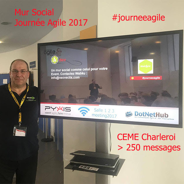 socialwall -journeeagile2017 - wall4u