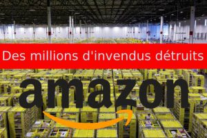 invendus detruits chez amazon